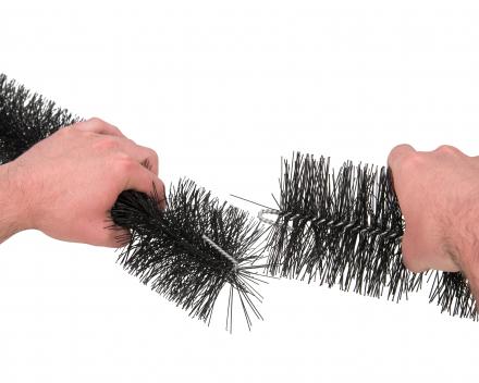 gootborstels aan elkaar haken