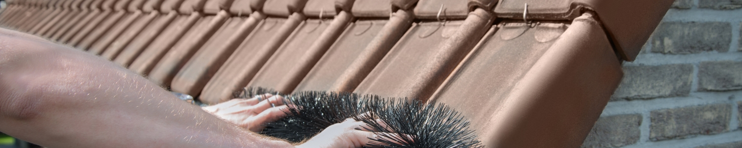 How do you install a gutter brush?